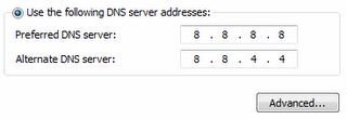 Google public DNS configuration