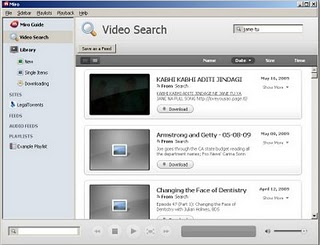 Miro desktop Youtube and Online TV application