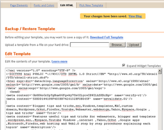 meta tag in Blogger