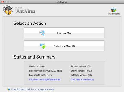 PC Tools iAntivirus for Mac OS X