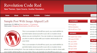 Revolution blogger template red