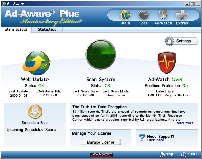 Lavasoft ad-aware anniversary edition pro 2009 v8. 0. 3 crack incl.