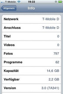 iPhone OS 3.0 installation screenshots