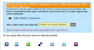 Add Social bookmarking below Blogger posts