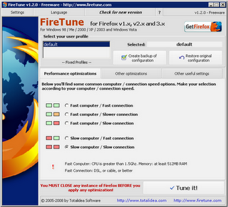 speed up Firefox