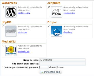 Install apps on Dreamhost free hosting