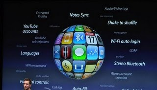 Apple iPhone OS3 feature
