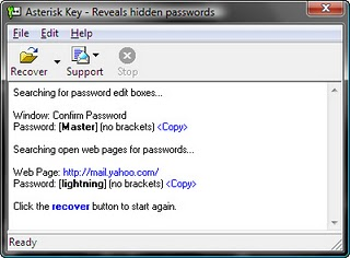 Identify hidden passwords in asterisk