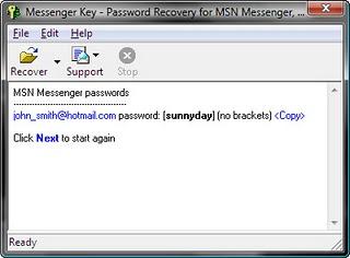 Recover Yahoo ,ICQ , MSN Google talk passwords