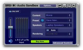 Improve sound quality using SRS audio sandbox