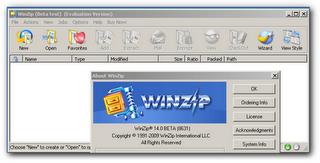 WinZip 14 beta