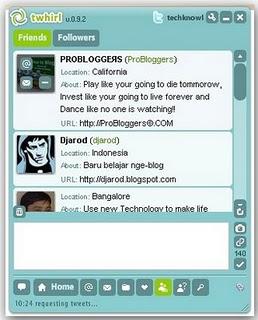 Twhirl Twitter desktop client