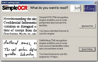 SimpleOCR : Free Optical Character Recoginition Software for Window