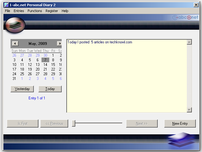 free personal diary software windows
